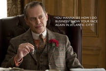 "On The Boardwalk / Starring Enoch ""Nucky"" Thompson (Steve Buscemi) & his fellow cast members of HBO's Prohibition Era Drama, 'BOARDWALK EMPIRE'..  / by Brandi Tiapula"