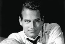 Paul Newman / Screen legend, superstar, and the man with the most famous blue eyes in movie history. His first film was The Silver Chalice. He fared much better in his next effort, Somebody Up There Likes Me. He went on to become one of the top box office draws of the 1960s, starring in such superior films as The Hustler, The Prize, Hud, Cool Hand Luke and Butch Cassidy and the Sundance Kid. Nominated nine times for an Academy Award, he finally took one home for his performance The Color of Money. / by Ken V