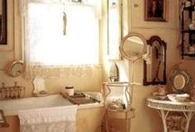 Bathrooms  / Decorating and organizing ideas for bathrooms and linen closets / by Cathy Patzlaff