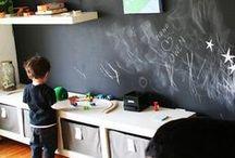 Chalkboard Paint Ideas / by Kids Bedroom Decorating Ideas