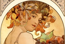 Art Nouveau  / Art Nouveau grew out of a spiritual backlash to the industrial revolution. It was a counterculture that created a popular culture. It's values were nature, sensuality, sex & the newly liberated woman. It's organic curves contain the essence of nature and the beauty of sacred geometry. This movement was sadly, a revolution that did not last. It's artifacts are to me some of the most valuable in art history. Women were a huge part of this movement.   / by Alisa Foster