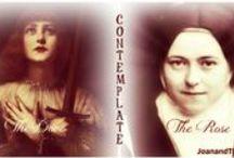 The Dove and Rose (St. Joan and St. Thérèse) / En l'honneur des nos saintes sœurs, Jeanne d'Arc et Thérèse de l'Enfant Jésus / by S.t. Martin