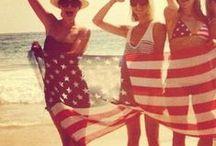 Red, White & Blue Luv / I love the U.S.A. and the 4th of July  / by Mich Wallnz