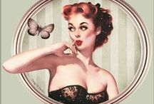 Vintage Pin-Up Art  / Vintage pin up posters. / by Donna Hill