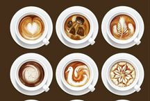 Coffee / Coffee is a brewed beverage prepared from the roasted or baked seeds of several species of an evergreen shrub of the genus Coffea.  / by Cecilia Moseler
