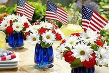Celebrate - Red, White & Blue / Patriotic decor & entertaining ideas / by A Cultivated Nest