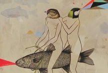 Ilustraciones, pintura y collage / by Lur Lur