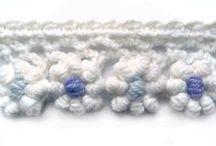 Crochet, Edgings / crochet, El ganchillo, croché (galicismo de crochet) o tejido de gancho, haken, croche / by All Things String