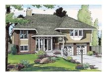 Hillside Home Plans / Hillside home plans provide buildable solutions for homes that are slated for construction on rugged terrain, sloping lots, or hillside building sites. Frequently referred to as either sloping lot plans or split-level plans, they are specifically designed for property that possesses either a sharp or steady incline. Hillside or mountainside house plans usually have partially exposed basement or crawlspace foundations, often allowing for lighter, brighter lower levels and walkout basements. / by FamilyHomePlans.com
