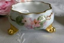Antique salt cellars / At my very first antique show, (many years ago) I bought a little salt cellar. I have loved them ever since then. / by Janice Doré