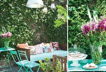 Summertime a la Casa McCarron / Inspiration for summers alfresco at our modern, Mexican, bohemian inspired patio and pool (that are in need of a slight makeover...anthropologie style of course!) :) I love color, I love mixing patterns, I love the outdoors and I especially love summertime! Hoping I can get our backyard oasis looking perfectly anthropologie chic and fun for entertaining our friends this summer. / by Celeste McCarron