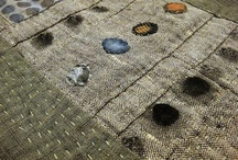 fiber to patch  / inspiration for stitch: grid, patch, fibers, cloth to cloth  / by Henrietta Zielinski