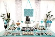 Sweet 15 birthday party (Symantha)Oct 15,2014 / Colors are turquoise, black, white, silver / by Soon 2 be Mrs. Romero