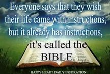 ♔ Instruction Manual For Life ♔ / The Holy Bible - God's Instruction Manual for Life / by Tres Haute Diva