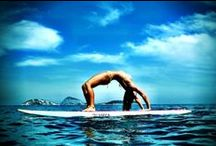 LETSGLO SUP Yoga / It's happening people. Yoga on a Stand Up Paddle Board - trending all over 2014!  / by LETSGLO