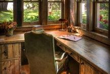 Office, Study and Den Ideas / Home Office and Man Den Ideas and Inspiration  / by Homeland Survival