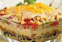 salads, dressings, salsas. and dips / by Linda Greenway