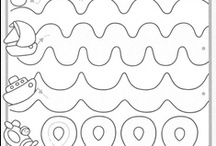 Werkblaadjes kind / Werkblaadjes om uit te printen / by Ingrid Saerens