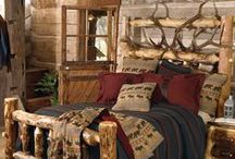 Log Home Furniture / Spruce up your log homes with some of these beautiful handcrafted pieces.  / by Timber Kings