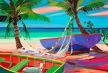 A day at the Beach........ / paintings / by Honor Monkey