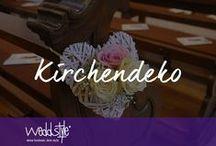 ♡ KIRCHENDEKO MIETEN / Traumhaft Kirchendekoration für Deine Hochzeit. Hier findest du einige Ideen und Beispiele unserer Kirchendeko. Dekoration und Floristik kann bei Weddstyle gemietet werden, gerne unterstützen wir Dich auch bei der Dekoration vor Ort. / by ♡ weddstyle.de ♡ Hochzeitsdekoration