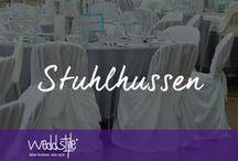 ♡ STUHLHUSSEN MIETEN / Stuhlhussen / by ♡ weddstyle.de ♡ Hochzeitsdekoration