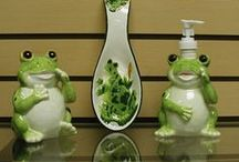 Frogs - Decor, Collectibles, Art, Jewelry / by Gladys Hagerty