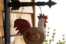 ROOSTER & CHICKEN - Decor, Collectibles, Jewelry, Art / by Gladys Hagerty