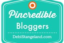 PINcredible BLOGGERS / Welcome to PINcredible BLOGGERS! RULES: Tasteful Topics Only - Pin from your own blog - No Duplicates - Limit: 3 Per Day. INVITES: 1.Follow the hostess - Debi Stangeland on Pinterest (not just the board you want to pin to) 2.Email Debi from the account that is connected with your Pinterest account. Include your name, sign-in email address, and the board you want to join. 3.Include PINTEREST BOARD INVITE in the subject line. 4.Send email to debistangeland{at}gmail{dot}com / by Debi Stangeland {The BLOG Training Center}