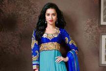 Celebrity Anarkali Salwar Kameez Online /  Buy all new Celebrity Anarkali Salwar Kameez Online  at Easysarees.com at the best prize in India / by EasySarees