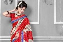 Casual Printed Party Wear Sarees / Buy Latest Casual Printed Party Wear Sarees From Easysarees.com at the best Price http://easysarees.com/ / by EasySarees