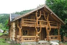 """Dreaming of Cabins and Tree Houses... / The hideaways we dream of having  """"someday"""". / by Vicky Beckner"""
