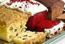Loaf Cake / Single layer cakes and cakes baked in loaf pans are great to slice and enjoy with a cup of coffee or a light dessert. / by Coni Lytle