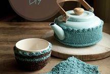 ~ CROCHET coffee 1 & tea cozies ~ / by Amina O with ♥ @ postmodern Amina O blog
