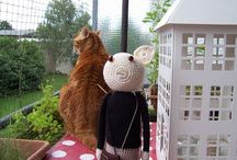 ~ CROCHET cats & dogs  this way ~ /  Our pets love crochet. / by Amina O with ♥ @ postmodern Amina O blog
