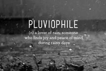 """Pluviophile / """"Some people feel the rain. Others just get wet"""".                Bob Marley / by Tess Durham"""