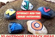 Kids Outside Play and Learn / Play and Learning ideas for kids, outside play ideas, outside crafts, nature activities for kids, nature crafts for kids / by Melissa Taylor @ImaginationSoup