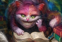 """Cheshire Cat world ! / This is my favorite character in Alice..! Whenever I'm just """"doodle drawing"""" I always draw him. He's always reflected how I feel about """"life"""". / by noreen scully"""