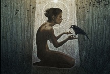 """Crow Goddess / The Crow goes so far back in the Goddess religion. Their incredibly smart and they """"mate"""" for life. Love that! / by noreen scully"""
