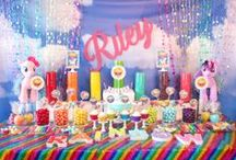 My Little Pony Rainbow Sparkle Party / Rainbow Party Theme, My Little Pony Sparkle Rainbow Party / by Sweet City Candy