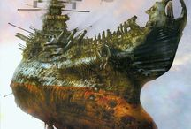 Sci-Fi: Space Battleship Yamato / Space Battleship Yamato.  #Yamato #Battleship #Series #Art / by The Coul👍