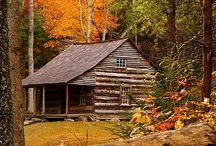 Cabins & Cottages (etc.) / #cabins #cottages #containers #cobs #tiny houses / by Maddie