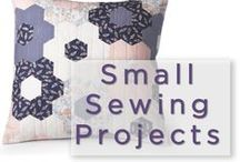 Small Sewing Projects / Baby quilts, table runners and quilted pillows are just a few of the small projects here at QNNtv.com. Video tutorials, quilt instructions and quilt patterns ensure you'll finish every small project you start. / by QNNtv.com