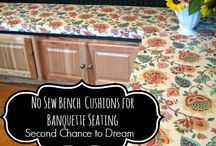 Banquette seating / by Barb Camp -Second Chance to Dream