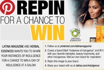 Instances of Indulgence / Latina Magazine and Herbal Essences want you to share your Instances of Indulgence for a chance to win a day of indulgence at a salon! Fill your board with your favorite hairstyles, beauty treatments, hair accessories, and more indulgences, then share it with us at http://www.latina.com/indulgence / by Latina Magazine