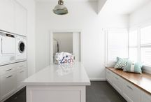 Laundry / Utility / Mud Room Renovation Ideas / Clever or cute ideas to improve storage, ergonomics, and functionality of a laundry room a.k.a. utility room or mud room / by S F