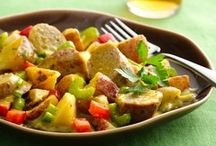 """Karen's Salads Recipes """"Hot & Cold""""  / Nothing better than a fresh salad on a hot day just as a warm salad on a cold day. Salads aren't for just lunch anymore they are for Dinner too! / by Karen Lawrence"""