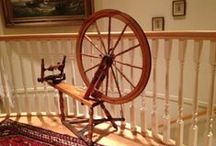 Canadian Production Wheels /  The Canadian Tilt-Tension Production Wheel (CPW) in all its glory and variety. (Also called Quebec Wheels) A CPW has:  Tilt tension (lots of nice big Canadian antique wheels exist, including some lovely ones made by makers who also made CPWs, but those with screw tension are not CPWs) A large drive wheel (usually 29-30 inches, but there are tilt tension wheels with drive wheels ranging from about 26 to 32) Its origin in Quebec in about 1875-1955 / by Jude Pilote
