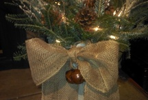 Burlap and lace Christmas / by Tracey Smithers