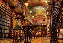 Libraries, bookstores, studies & reading nooks / by Marcia